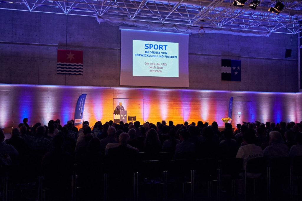 Adolf Ogi als Redner am Sport Forum Aargau