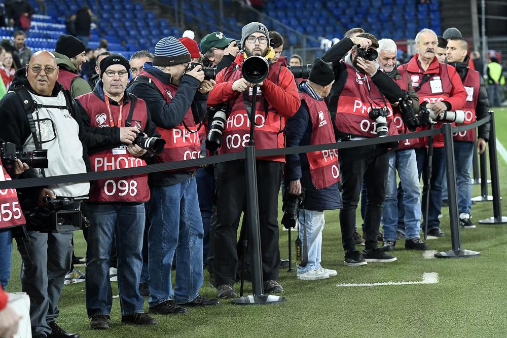 Fotografen im Einsatz an einem Sportevent