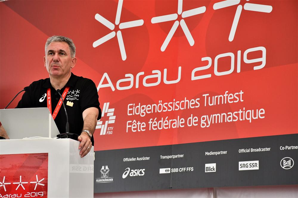 Regierungsrat Alex Hürzeler bei seiner Ansprache