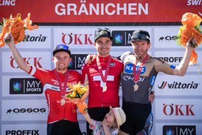 Podest der Schweizer Meisterschaften im Mountainbike