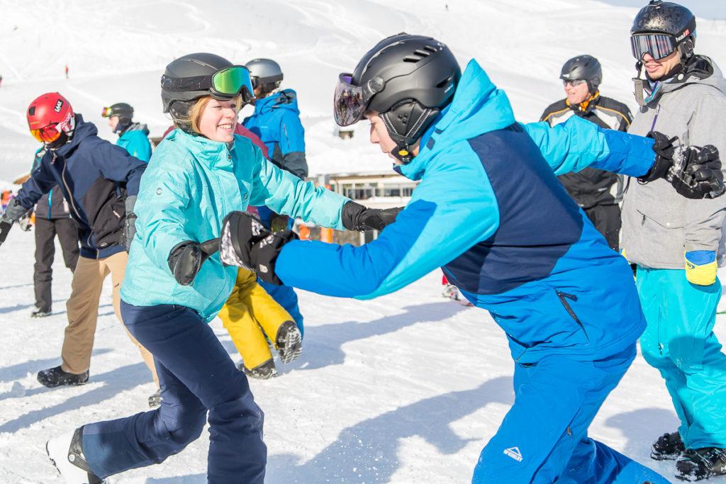 Jugendliche im Schneesportcamp auf der Lenzerheide