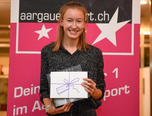 Eline Gemperle gewinnt den «NewComer»-Award des Kantons Aargau