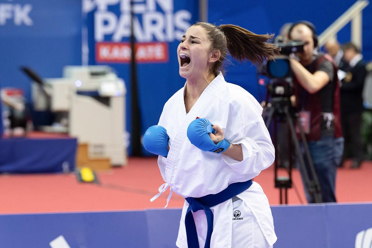 Grosser Jubel bei Karateka Elena Quirici