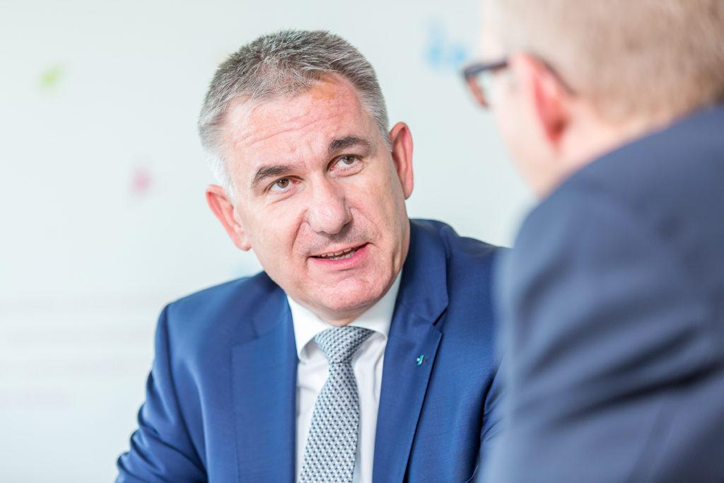 Der Aargauer Sportminister Alex Hürzeler im Gespräch