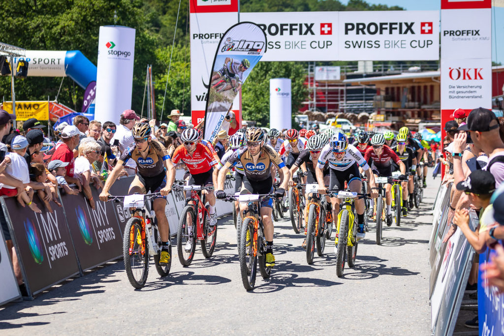 Start der Mountainbike Schweizer Meisterschaft in Gränichen