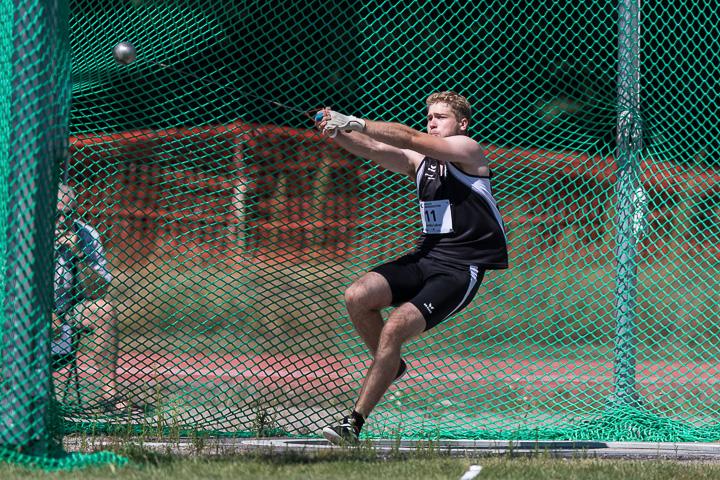 Hammerwerfer Lukas Baroke in Aktion