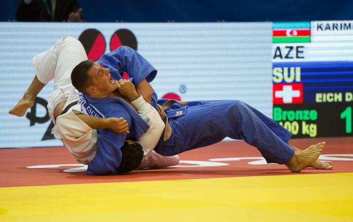 Judoka Daniel Eich legt seinen Gegner auf den Rücken